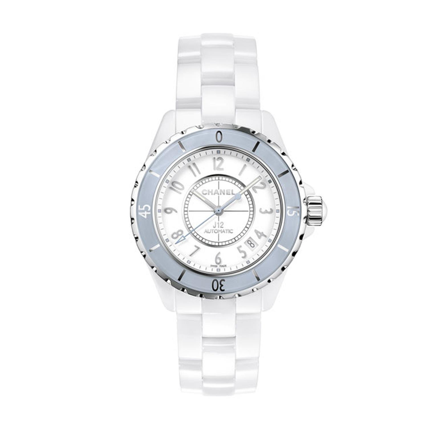 Chanel J12 38mm Soft Blue ladies watch_main