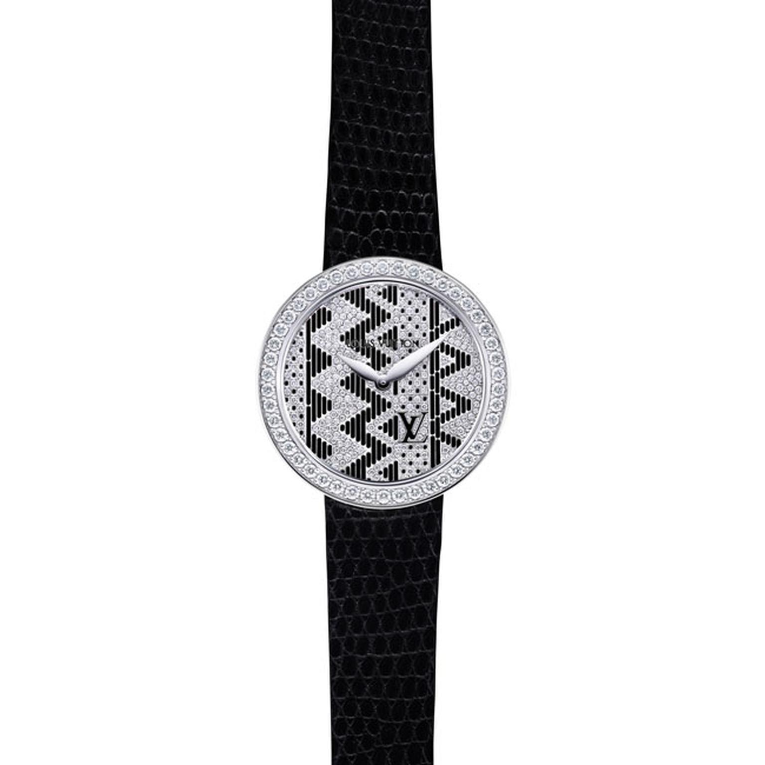 Louis Vuitton Joaillerie Chevron ladies watch in black_main