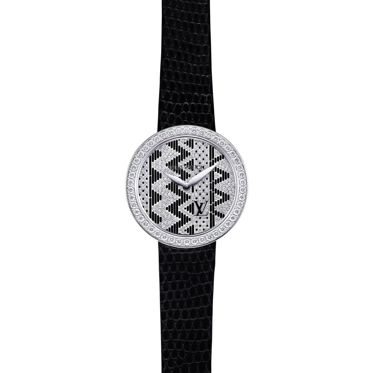 Louis Vuitton Joaillerie Chevron ladies watch in black_zoom