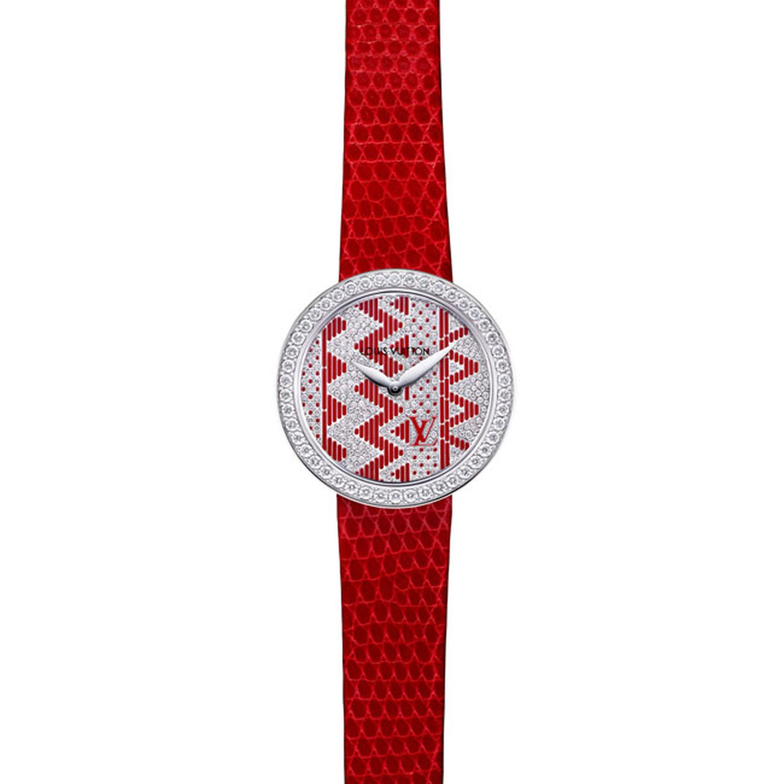 Louis Vuitton Joaillerie Chevron ladies watch in red_main