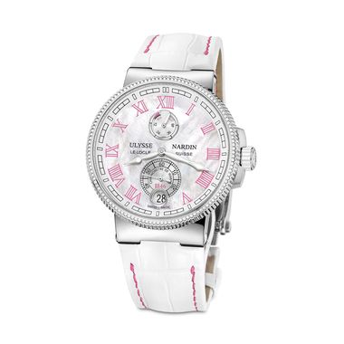Ulysse Nardin Marine Chronometer 43mm ladies watch in pink_zoom