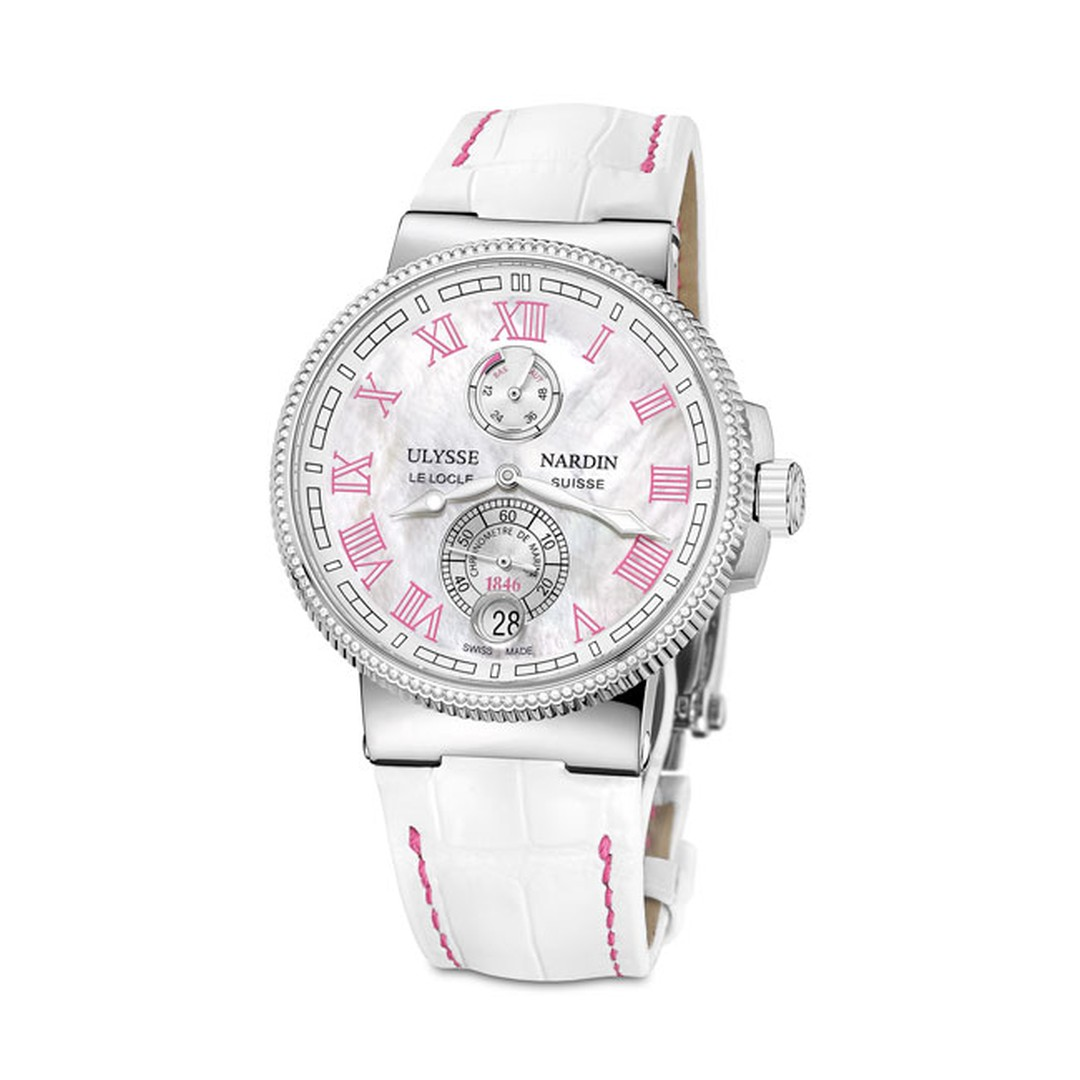 Ulysse Nardin Marine Chronometer 43mm ladies watch in pink_main