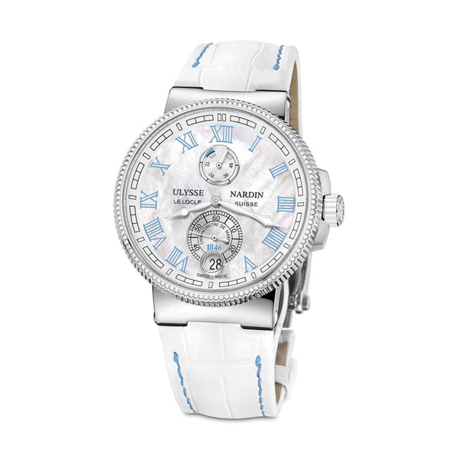 Ulysse Nardin Marine Chronometer 43mm ladies watch in blue_main