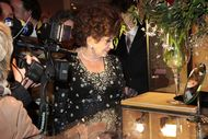 Gina Lollobrigida visits Sotheby's Geneva to see her jewels before sale