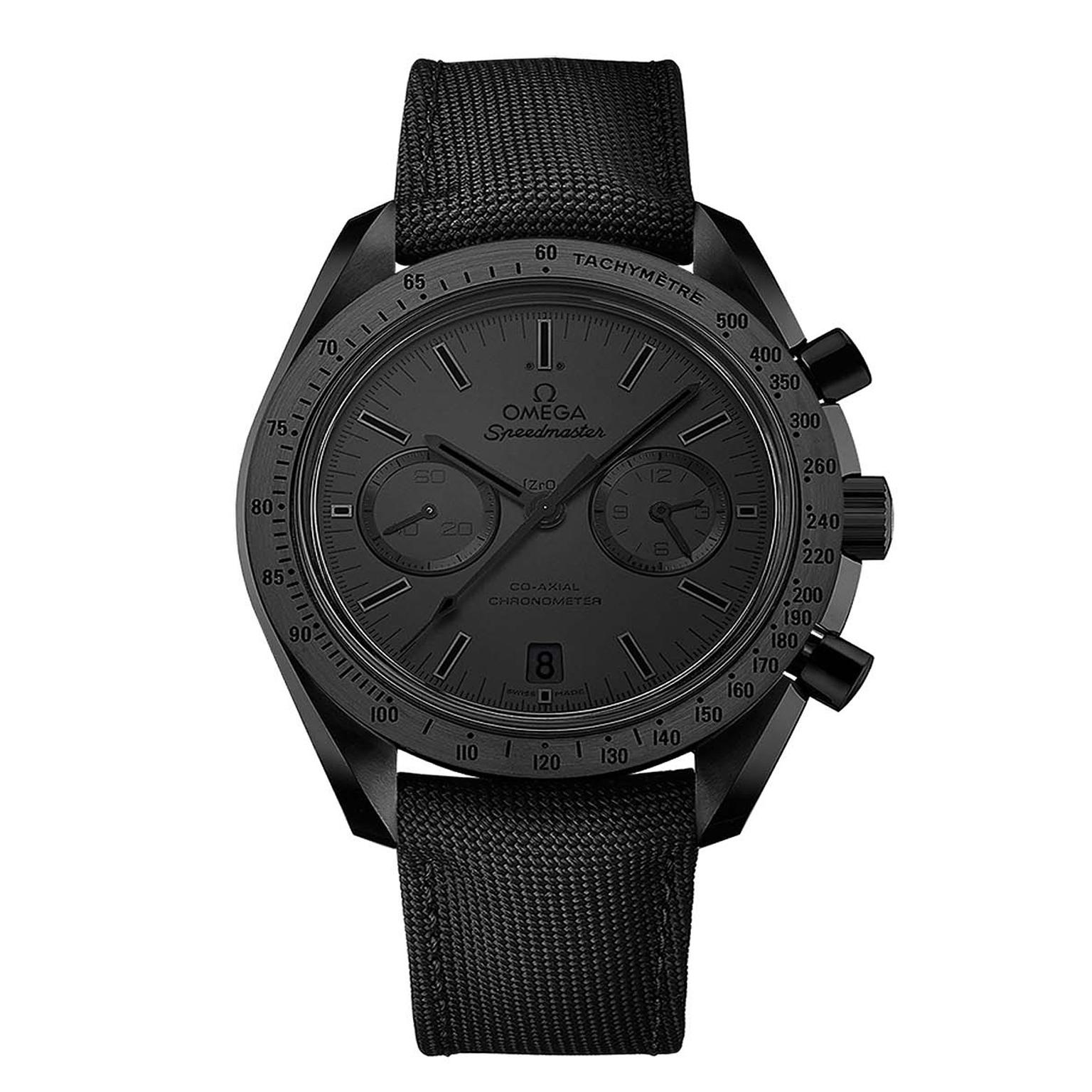 Omega Dark Side of the Moon watch in Black Black_zoom