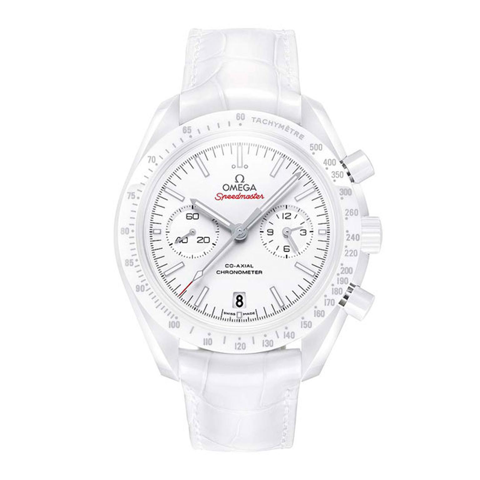 Omega Ladies White Side of the Moon watch_main