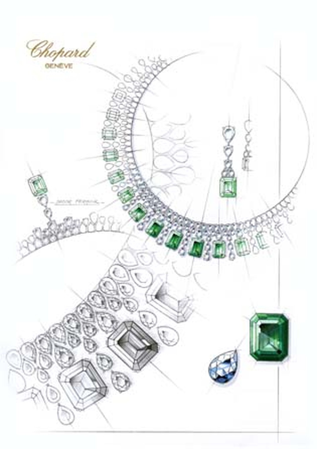 819356-1001 Sketch Emerald Necklace from the Red Carpet Collection 2013.jpg