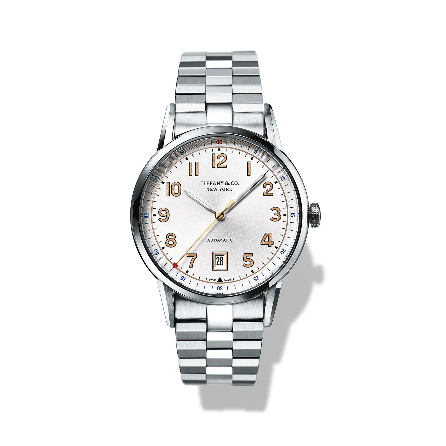 Tiffany CT60 34mm steel ladies watch_zoom
