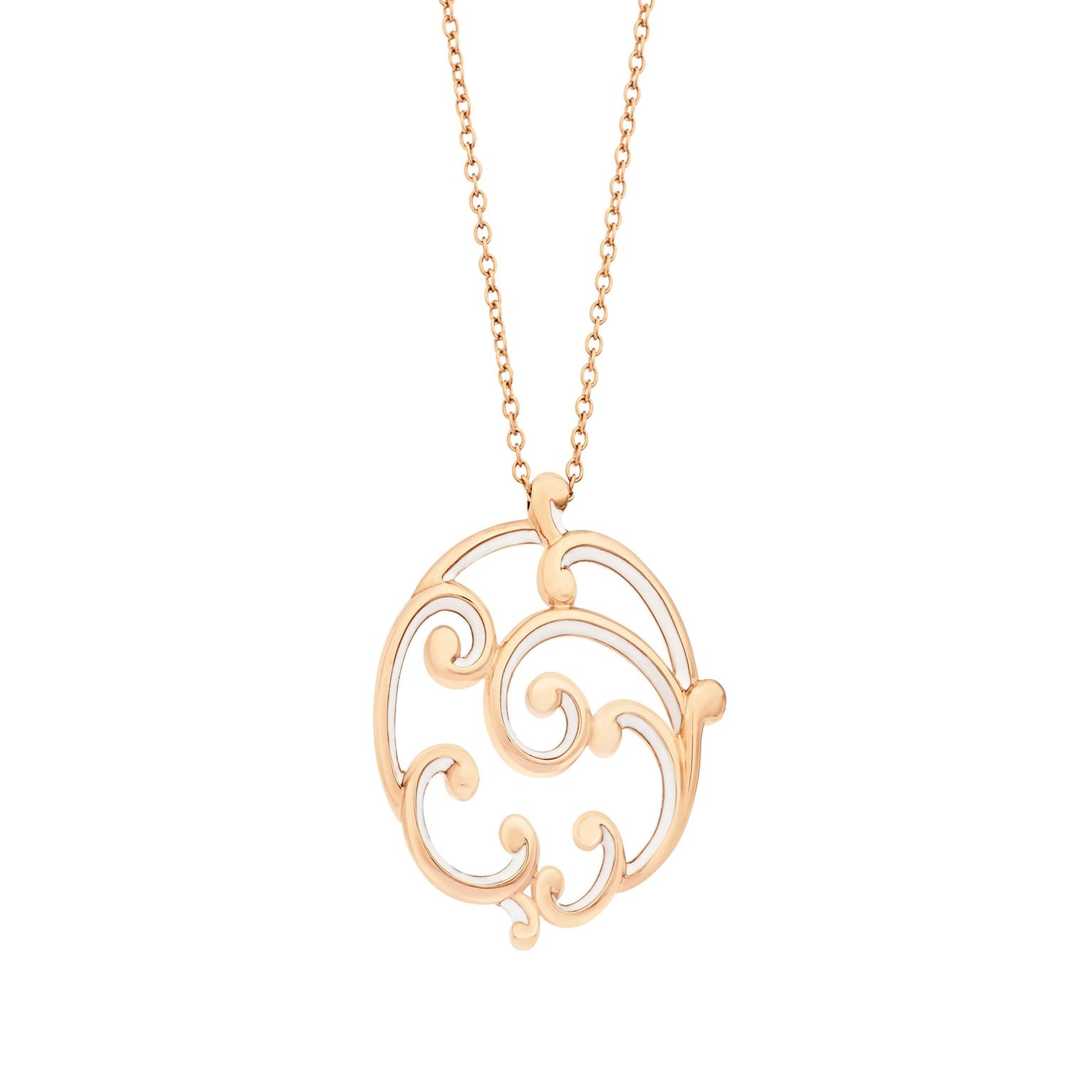 Faberge Rococo rose gold pendant_zoom