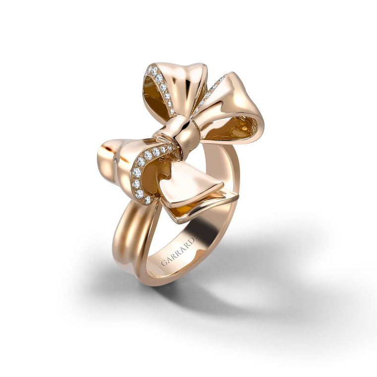 bow ring in gold with diamonds garrard