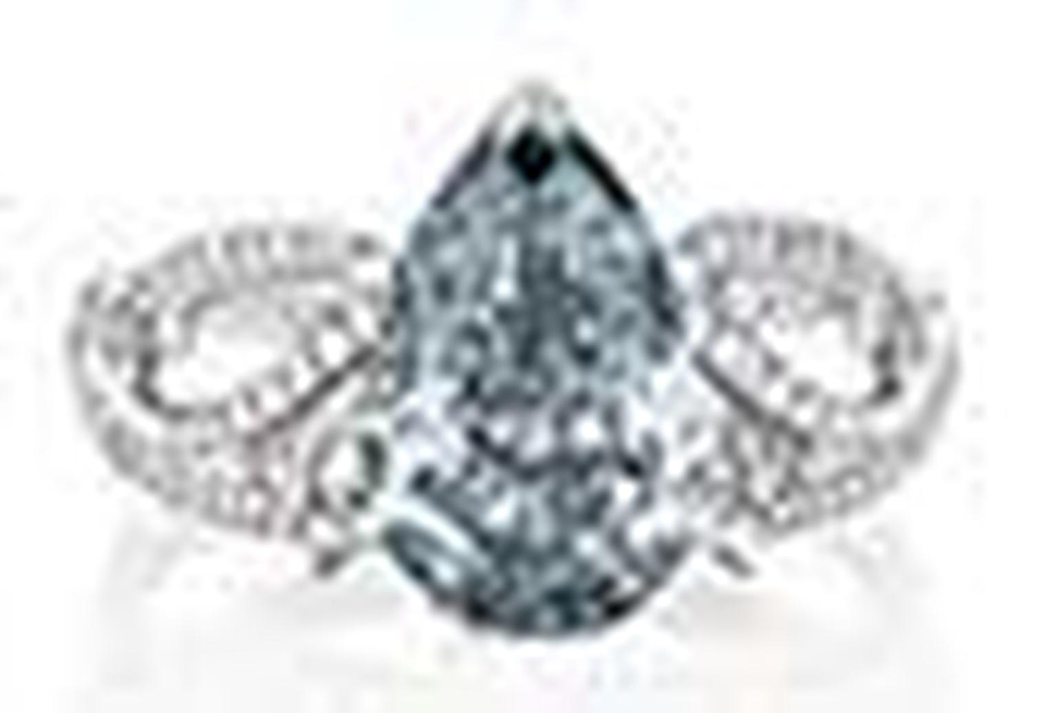 De Beers blue diamond ring