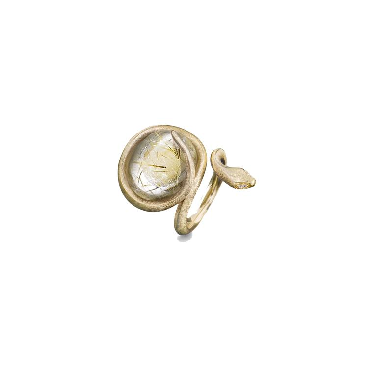 Ole Lynggaard 18ct yellow gold snake ring_zoom