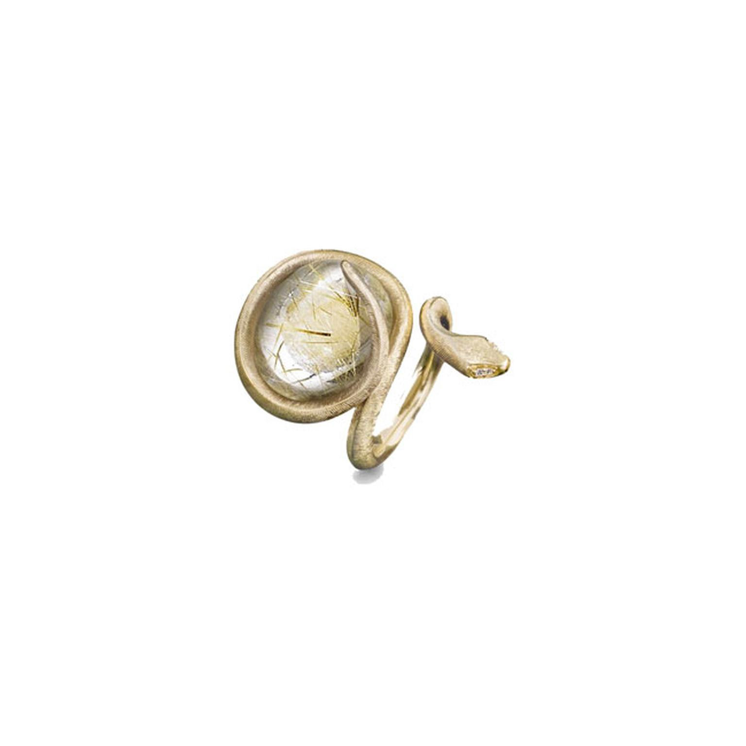Ole Lynggaard 18ct yellow gold snake ring_main