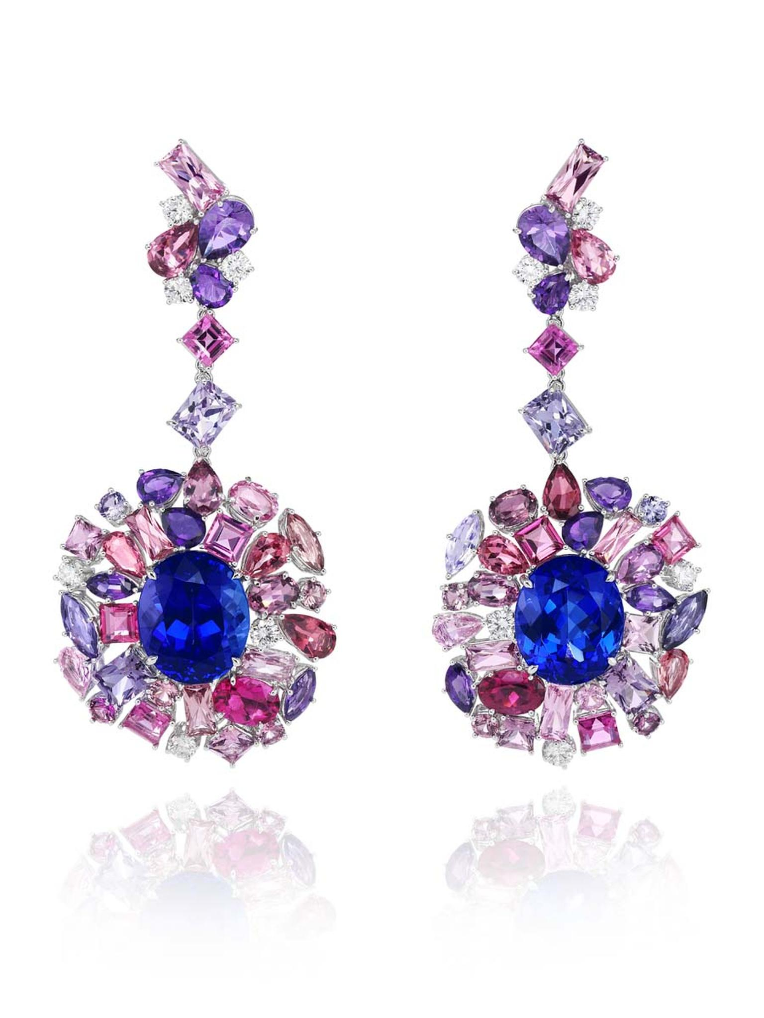 849374-1001 Tanzanite Earrings  from the Red Carpet Collection 2013Chopard.jpg