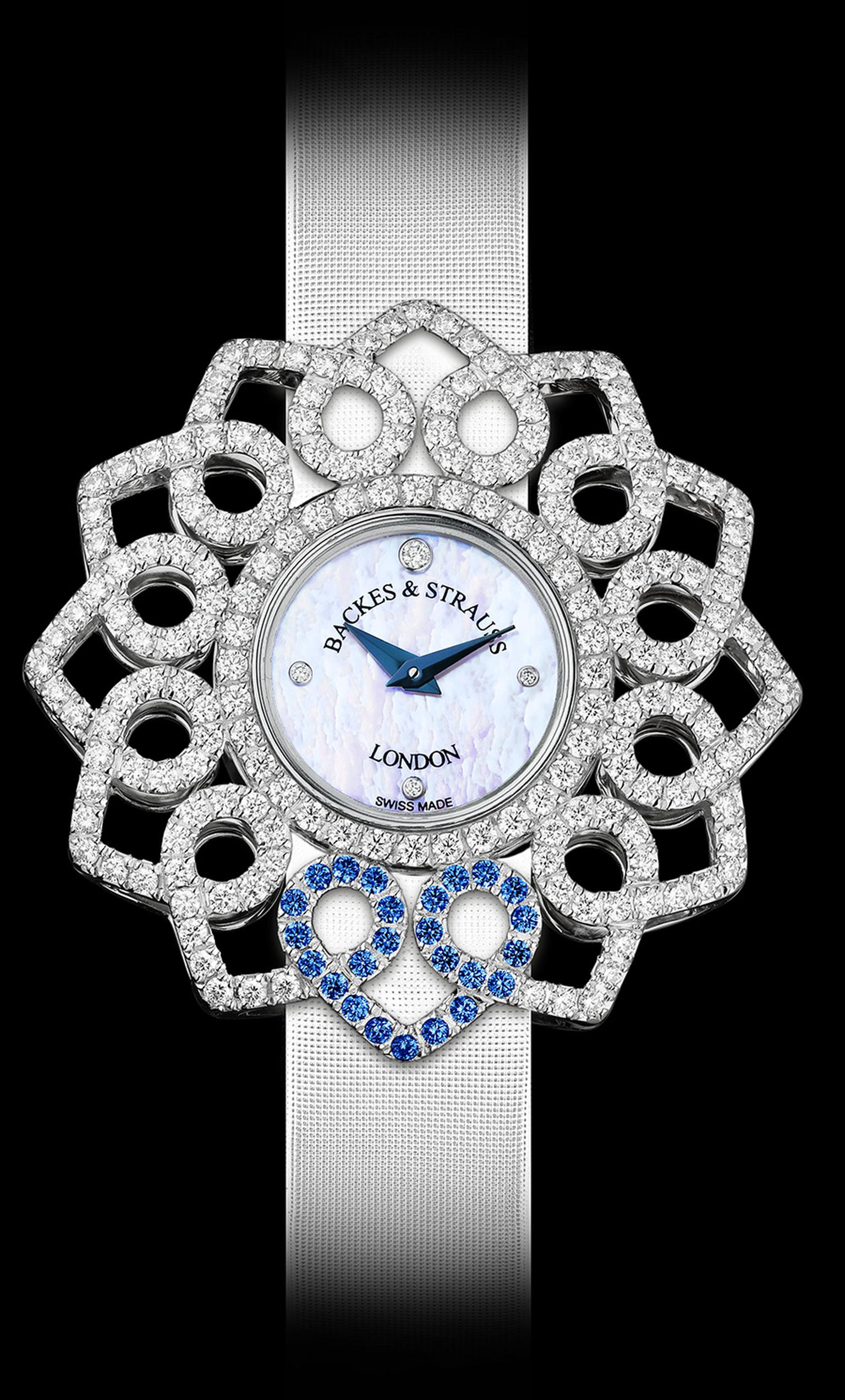Backes & Strauss Victoria Blue Heart watch