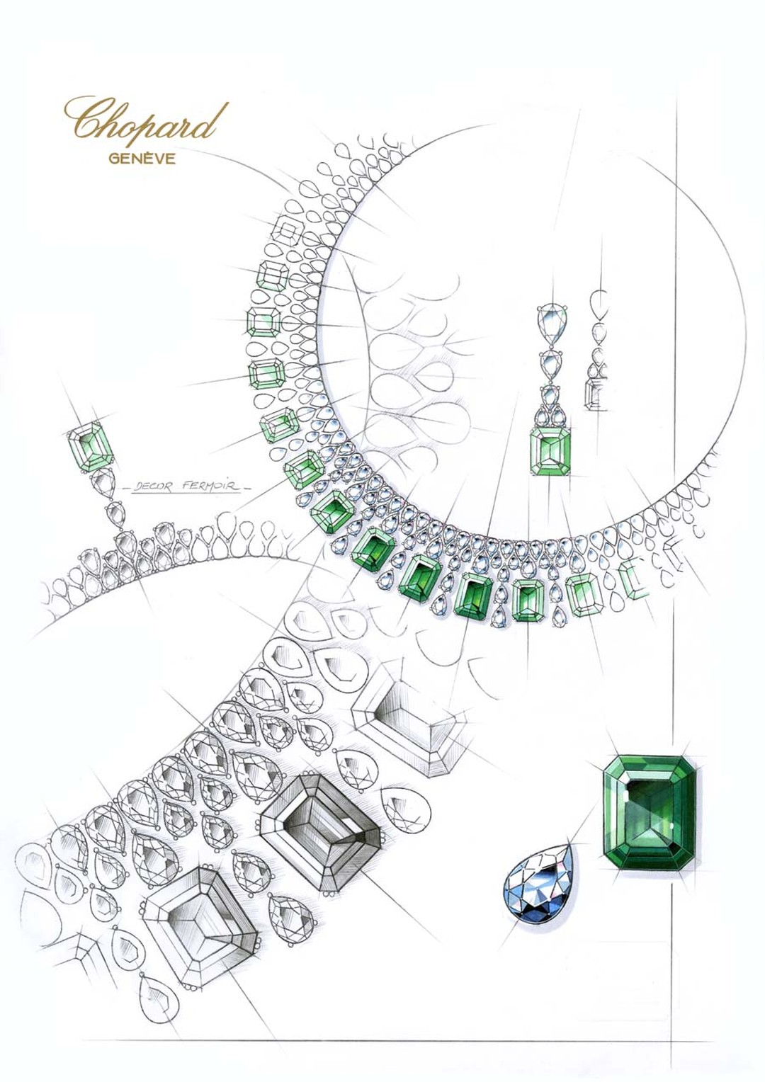 819356-1001 Sketch Emerald Necklace from the Red Carpet Collection 2013Chopard.jpg