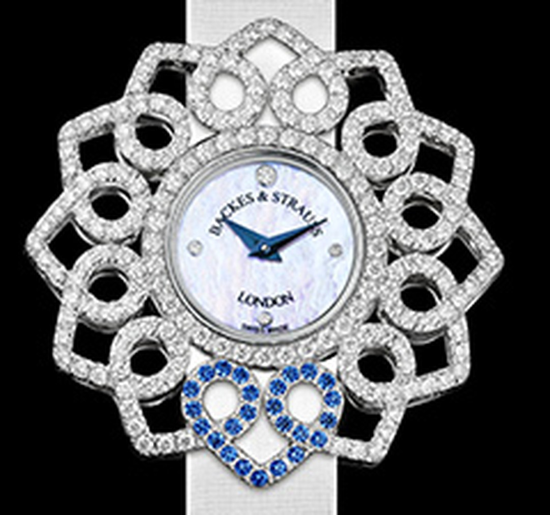 Backes & Strauss Victoria Blue Heart Watch HP