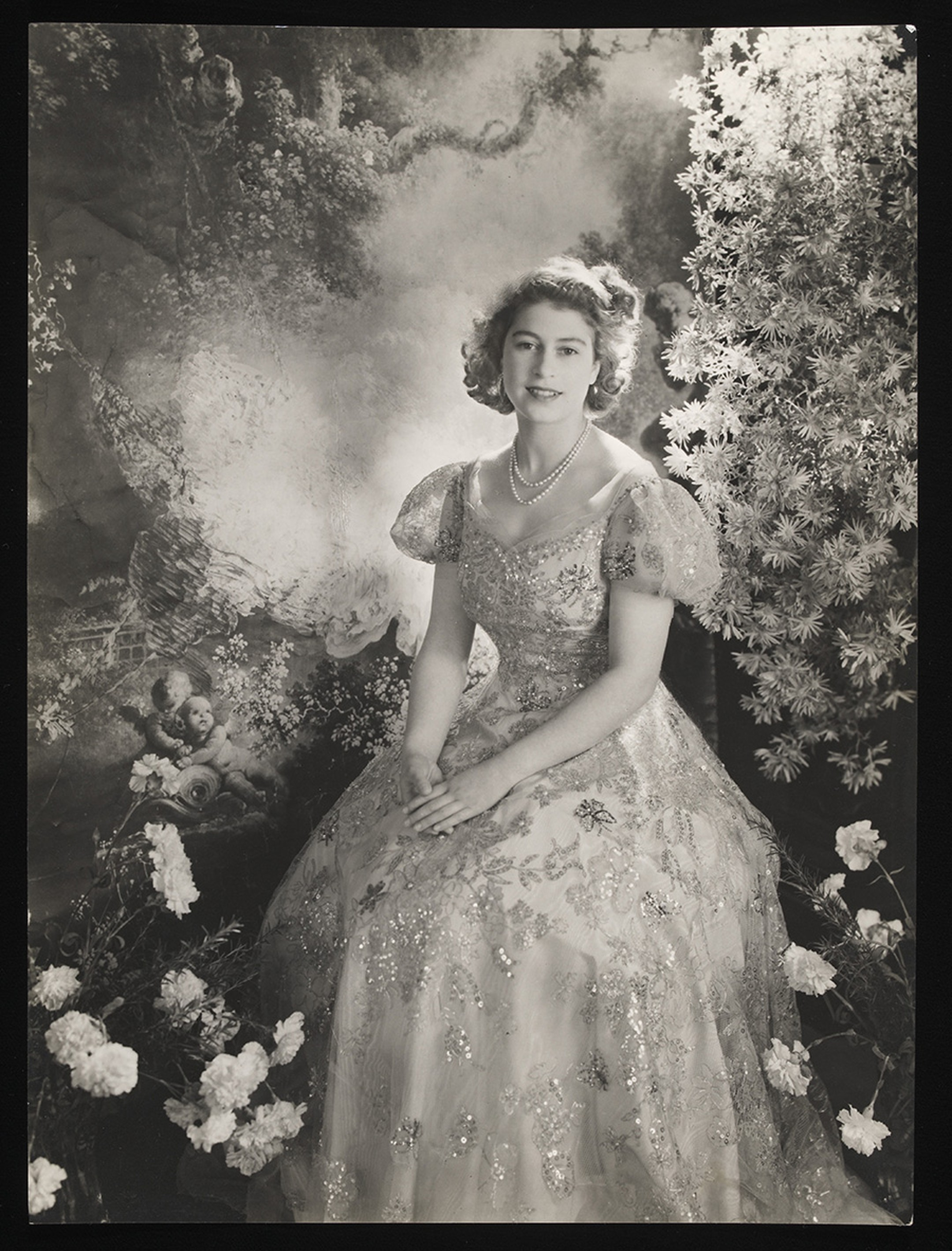 Title: Princess Elizabeth at Buckingham Palace  Artist: Cecil Beaton  Date: March 1945  Credit line: copyright V&A images