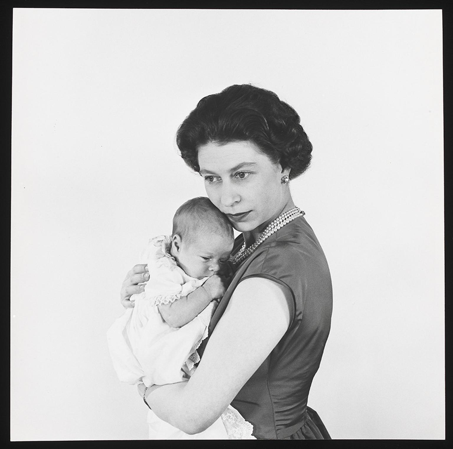 Title: Queen Elizabeth II with Prince Andrew  Artist: Cecil Beaton  Date: 1960  Credit line: copyright V&A images