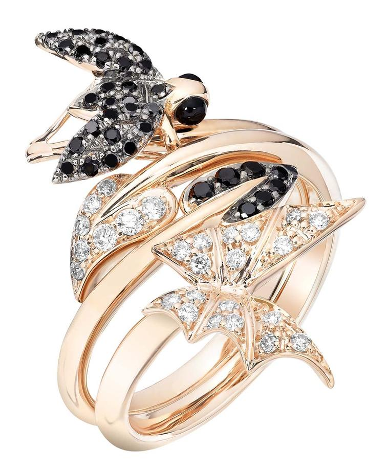 69716a46f95b Stephen Webster Fly By Night Stacking  Fly  Ring and  Batmoth  Ring