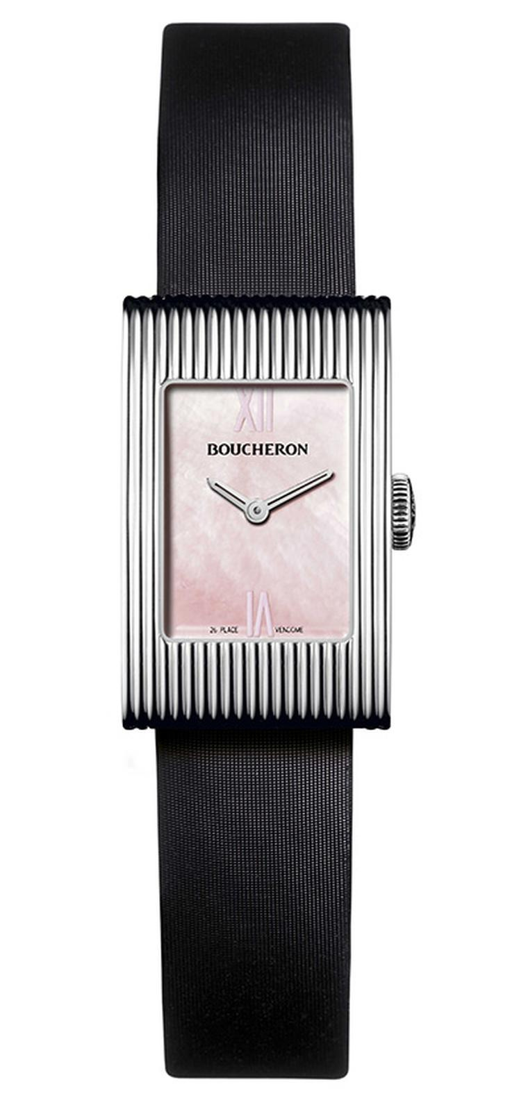 Boucheron Reflet on black satin strap