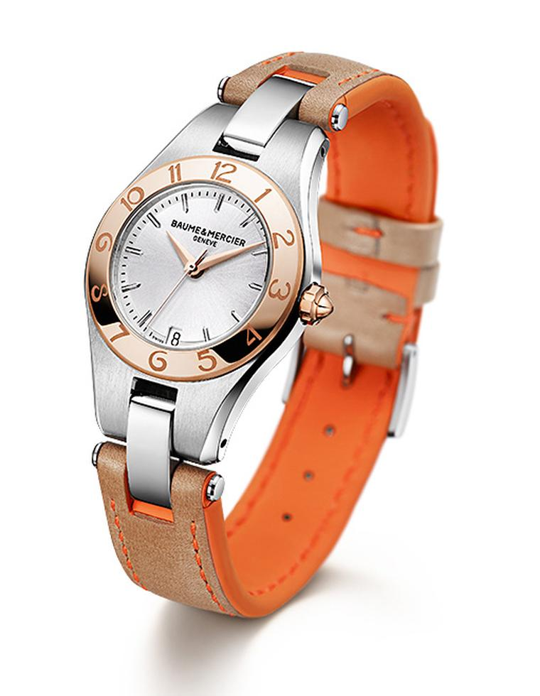 Baume & Mercier Linea with spring/summer 2012 strap