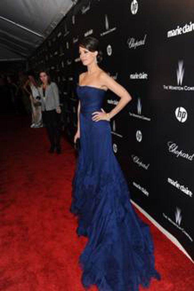 Berenice Bejo in Chopard at Golden Globes 2012 party