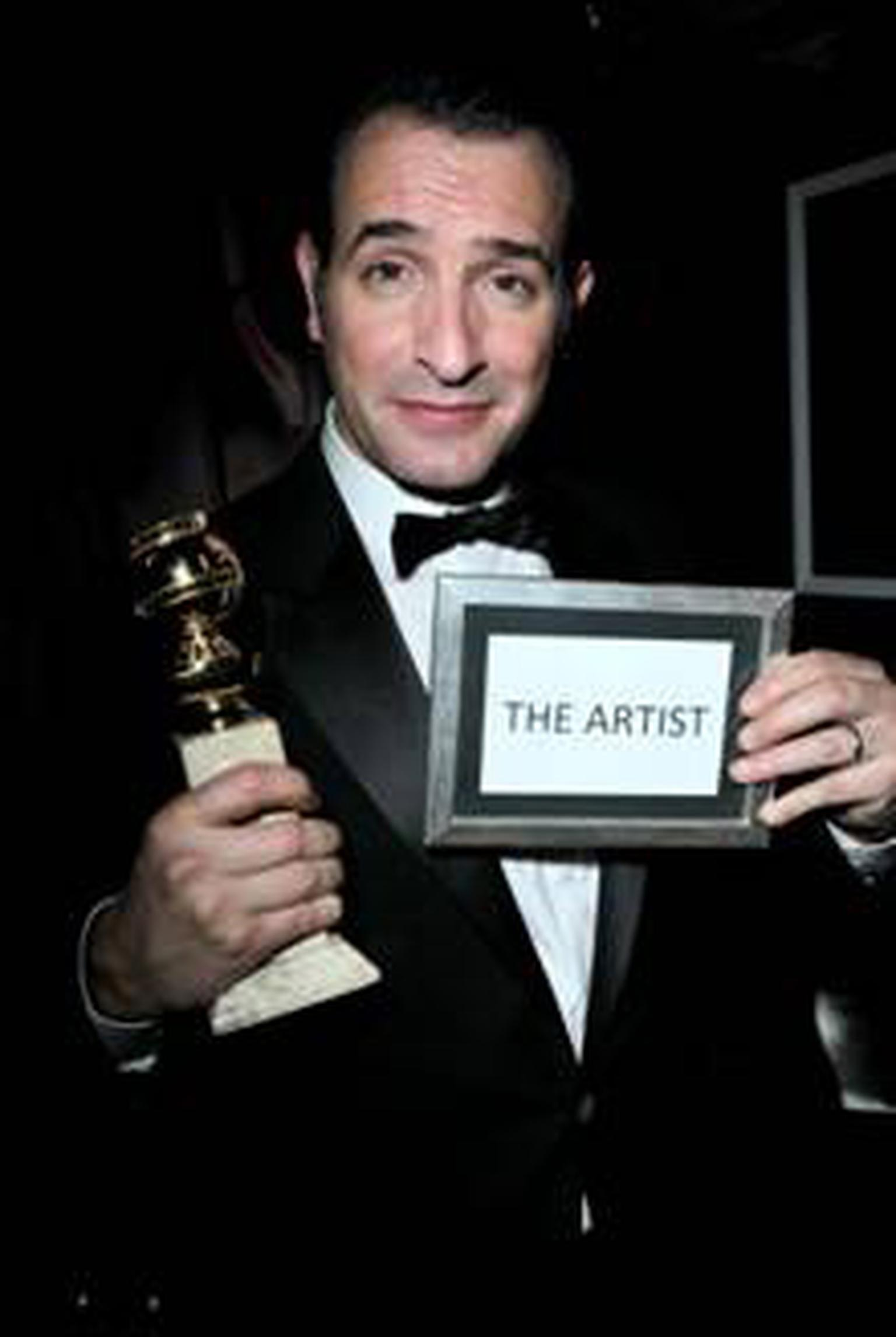 Jean Dujardin at Chopard and Weinstein Golden Globe party 2012
