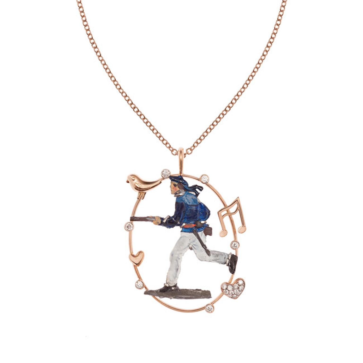 Francesca Villa Rose Gold Soldier necklace_main