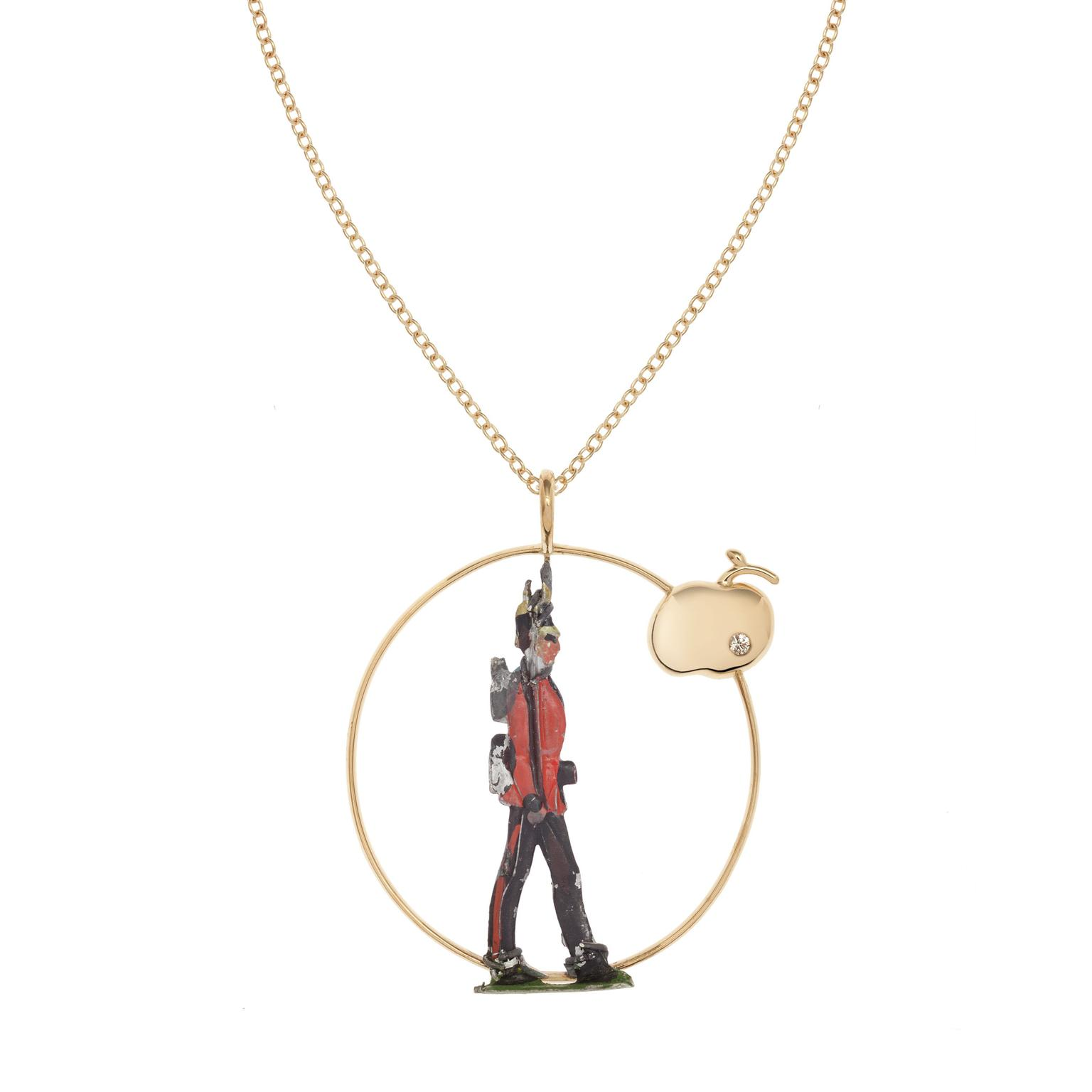 Francesca Villa Yellow Gold Soldier necklace_zoom