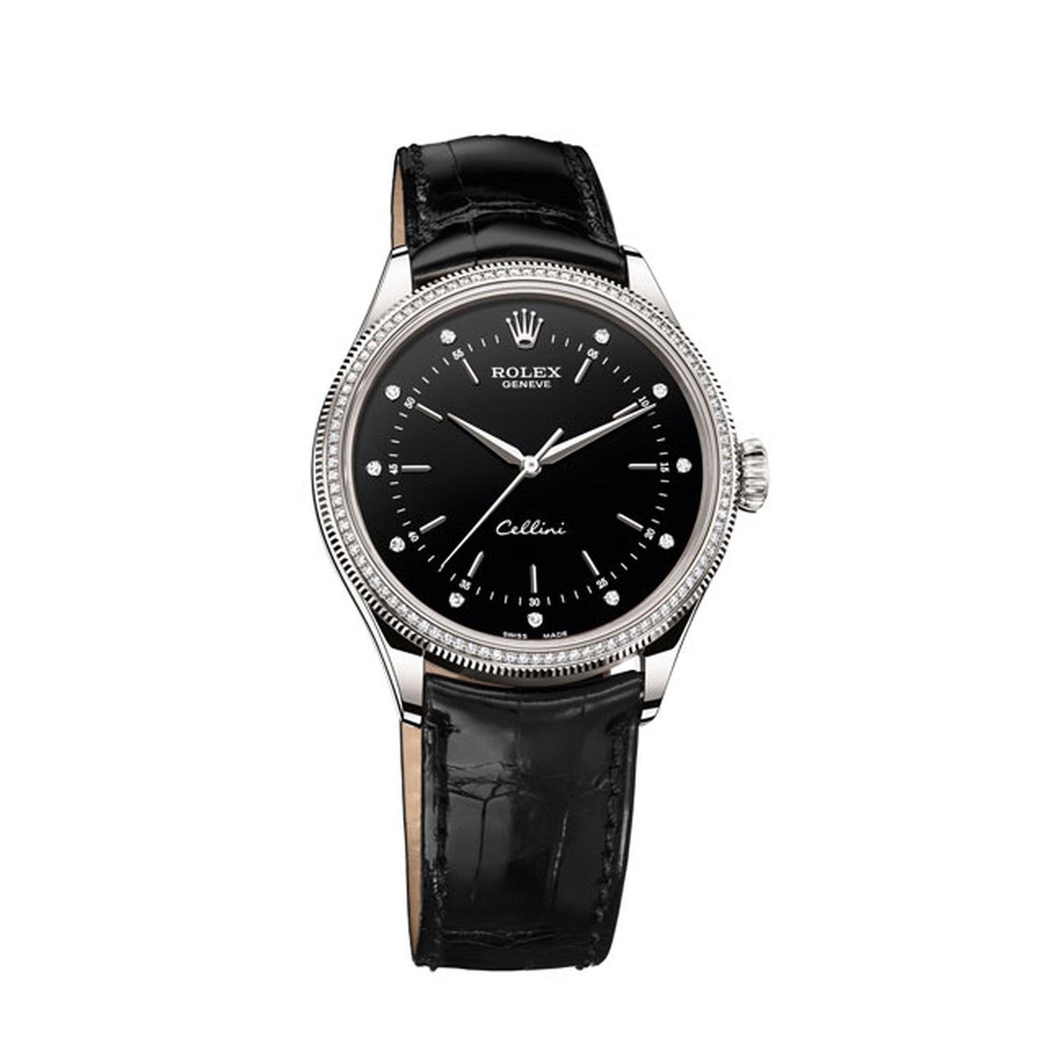Rolex Cellini Black diamond watch_main