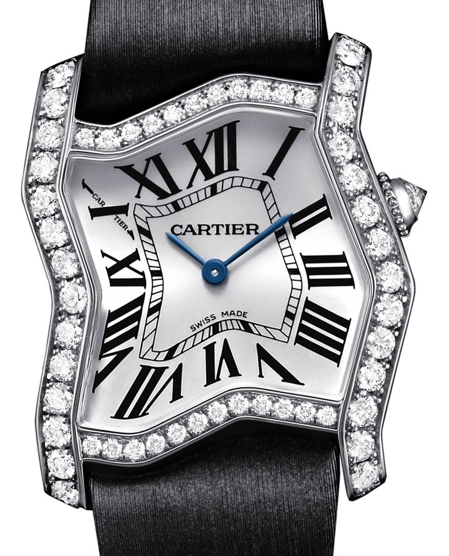 Cartier. Tank Folle watch, 18-carat rhodium-plated white gold. Price from £31,500