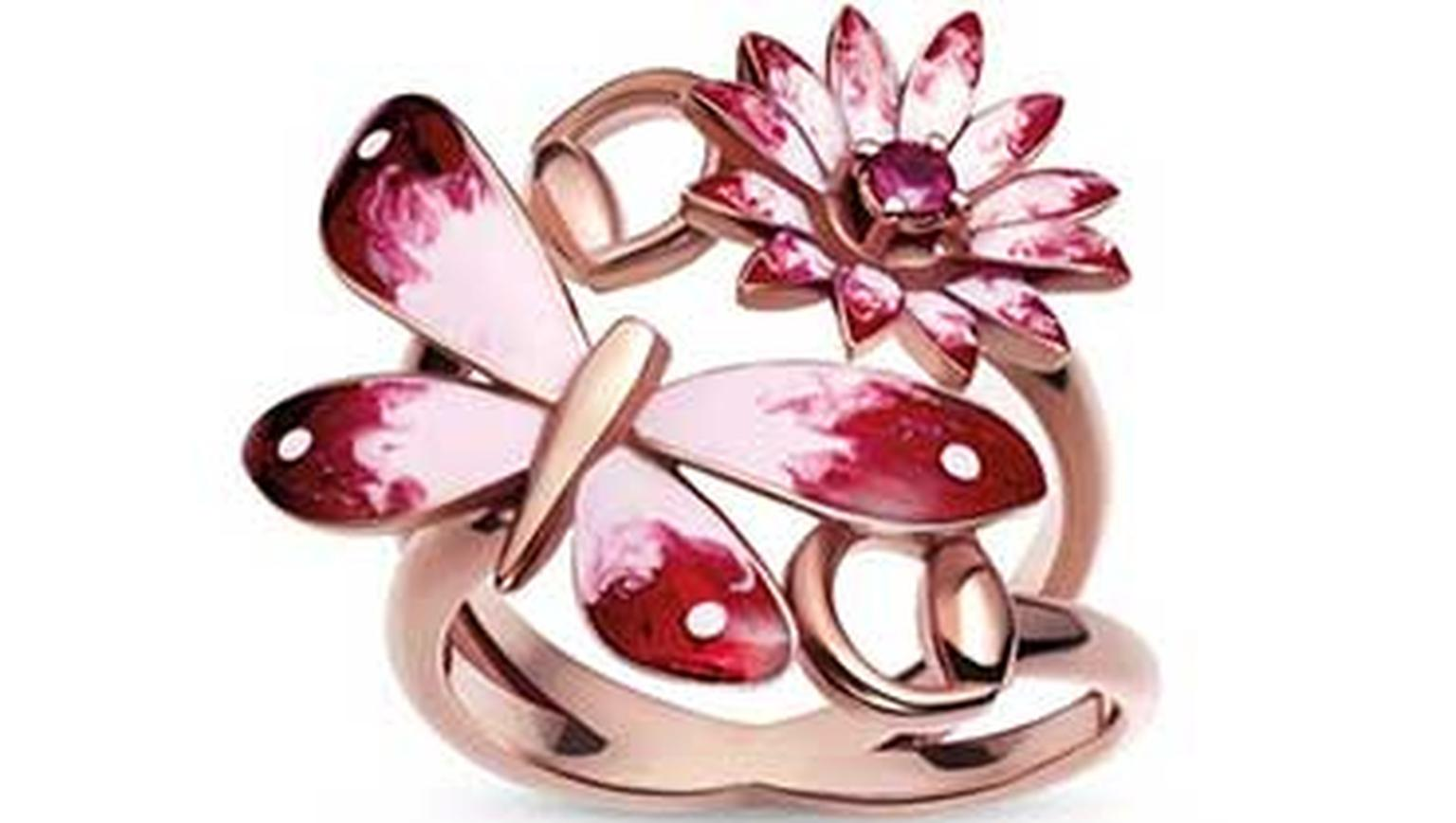 Gucci Flora rose gold ring