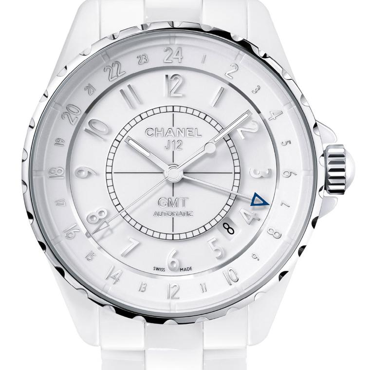 Chanel. J12 GMT white ceramic watch. POA