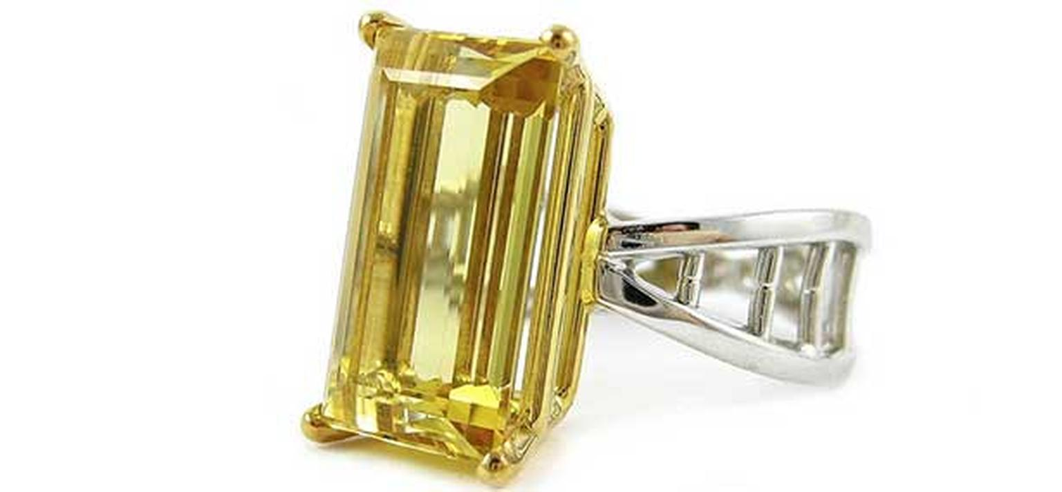 K-Brunini -yellow -beryl -ring