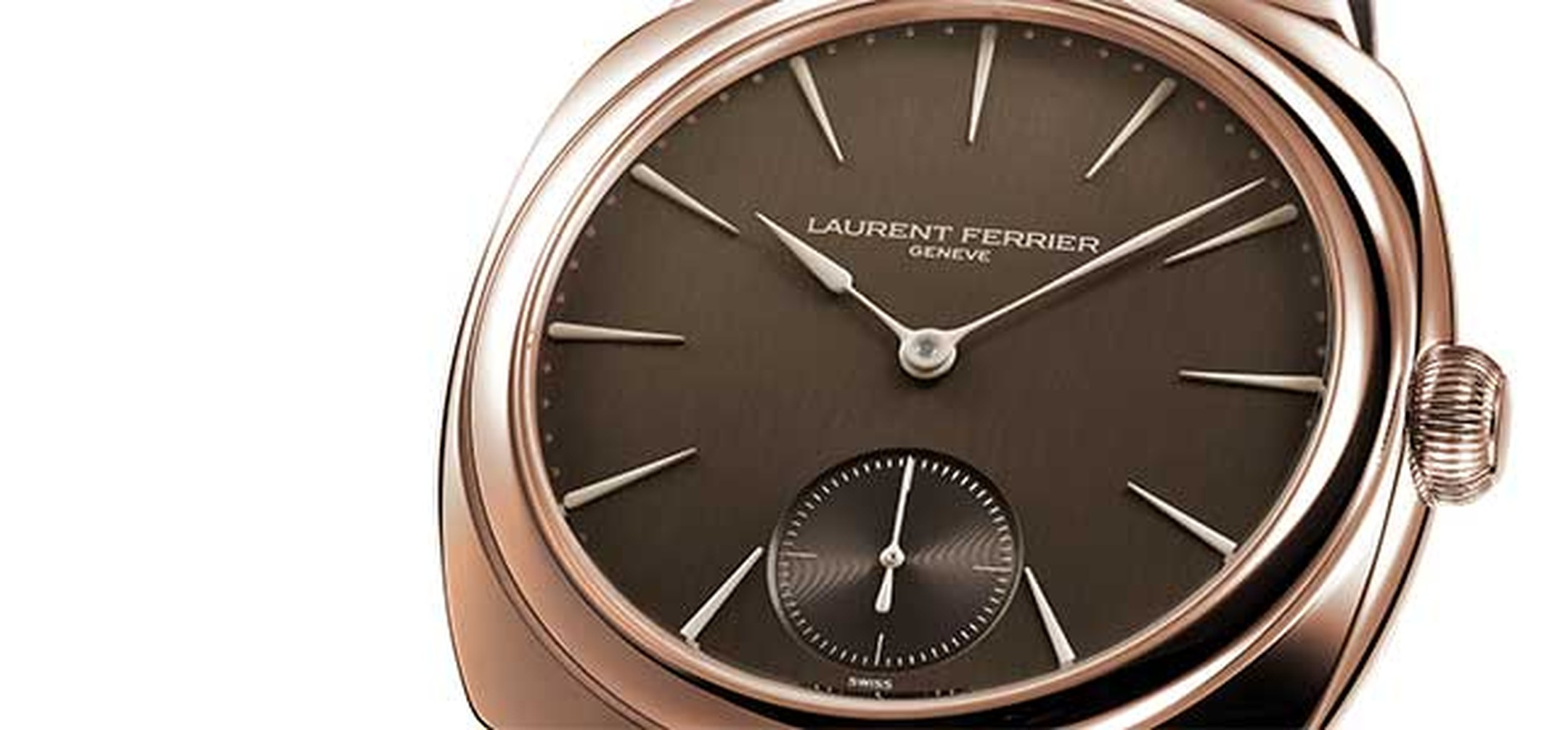 Laurent -Ferrier -Galet -Square -Chocolate -watch