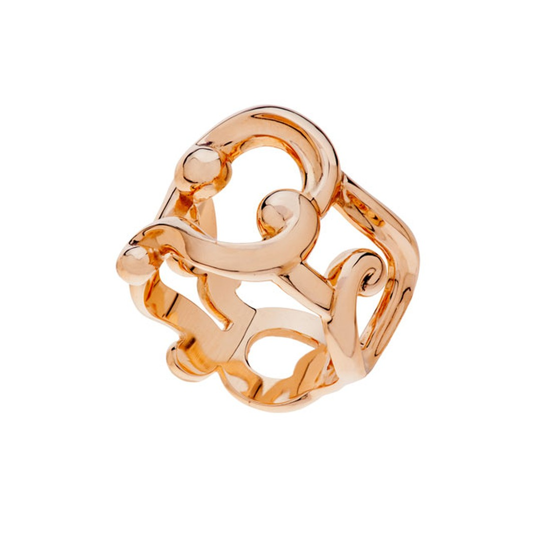 Fabergé Rococo lace rose gold ring_main