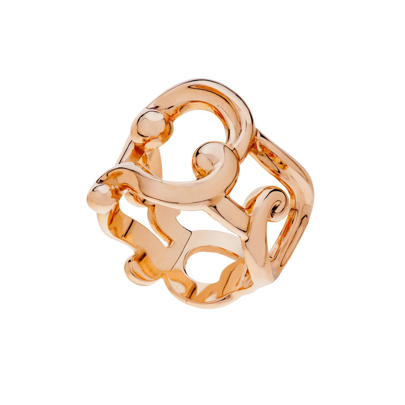 Fabergé Rococo lace rose gold ring_zoom