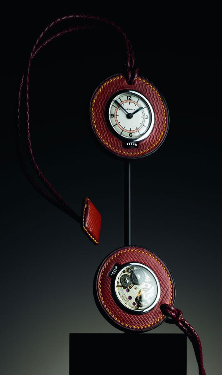 Hermes. Buttonhole pocket watch, around 1930
