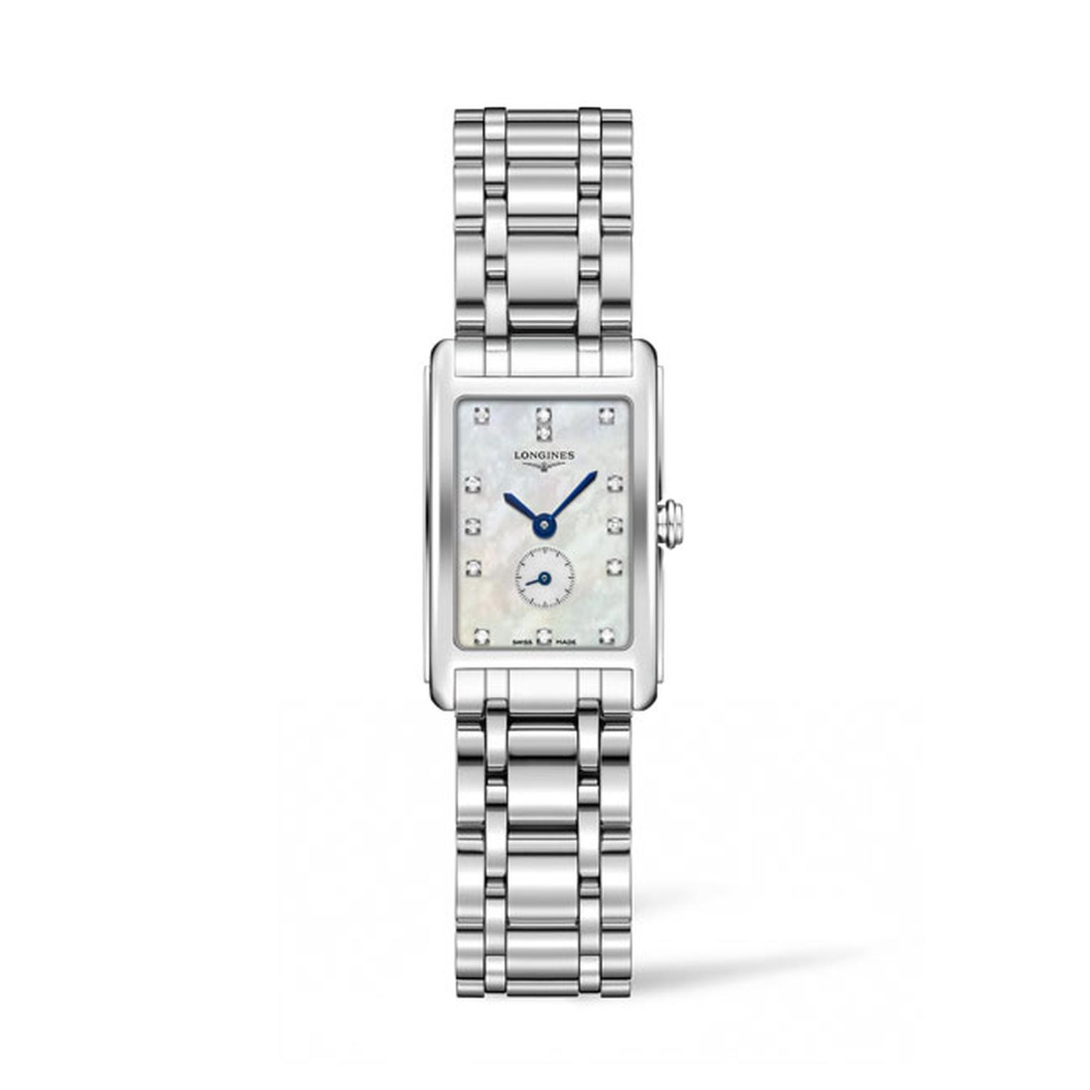 Longines Dolce Vita Stainless Steel with diamond spot and MOP dial_main