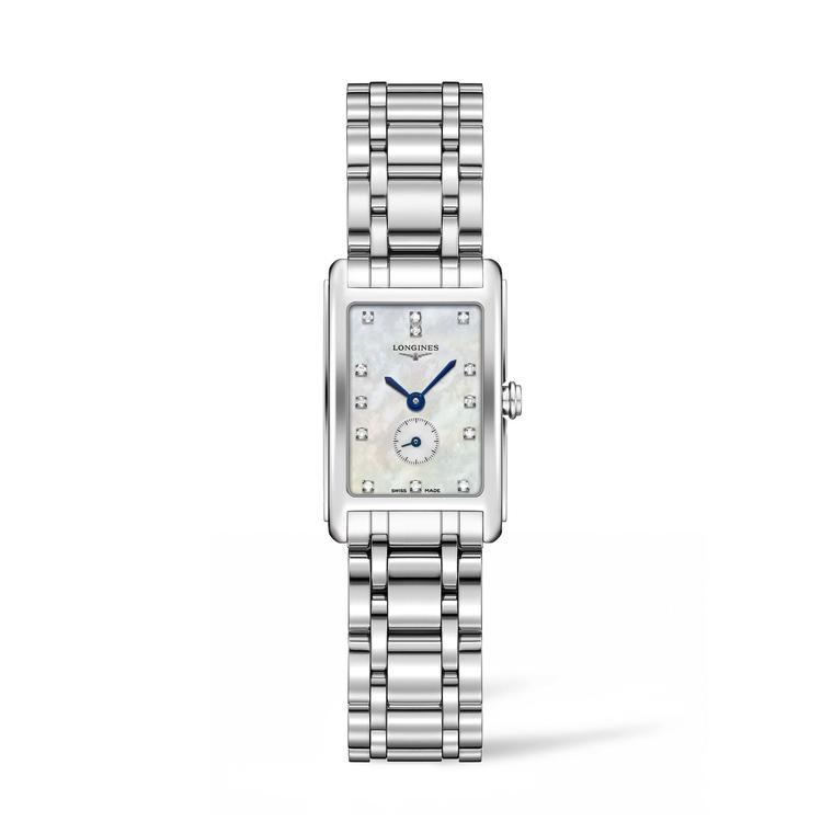 Longines Dolce Vita Stainless Steel with diamond spot and MOP dial_zoom