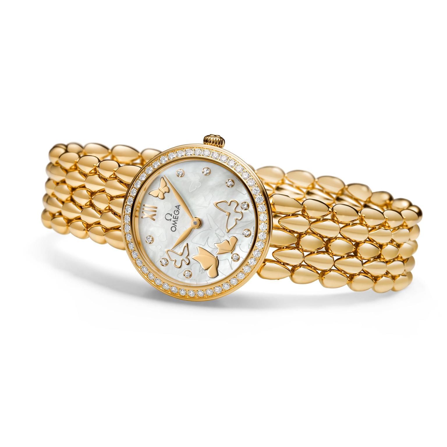 Omega DeVille Prestige Dew Drop in yellow gold_zoom