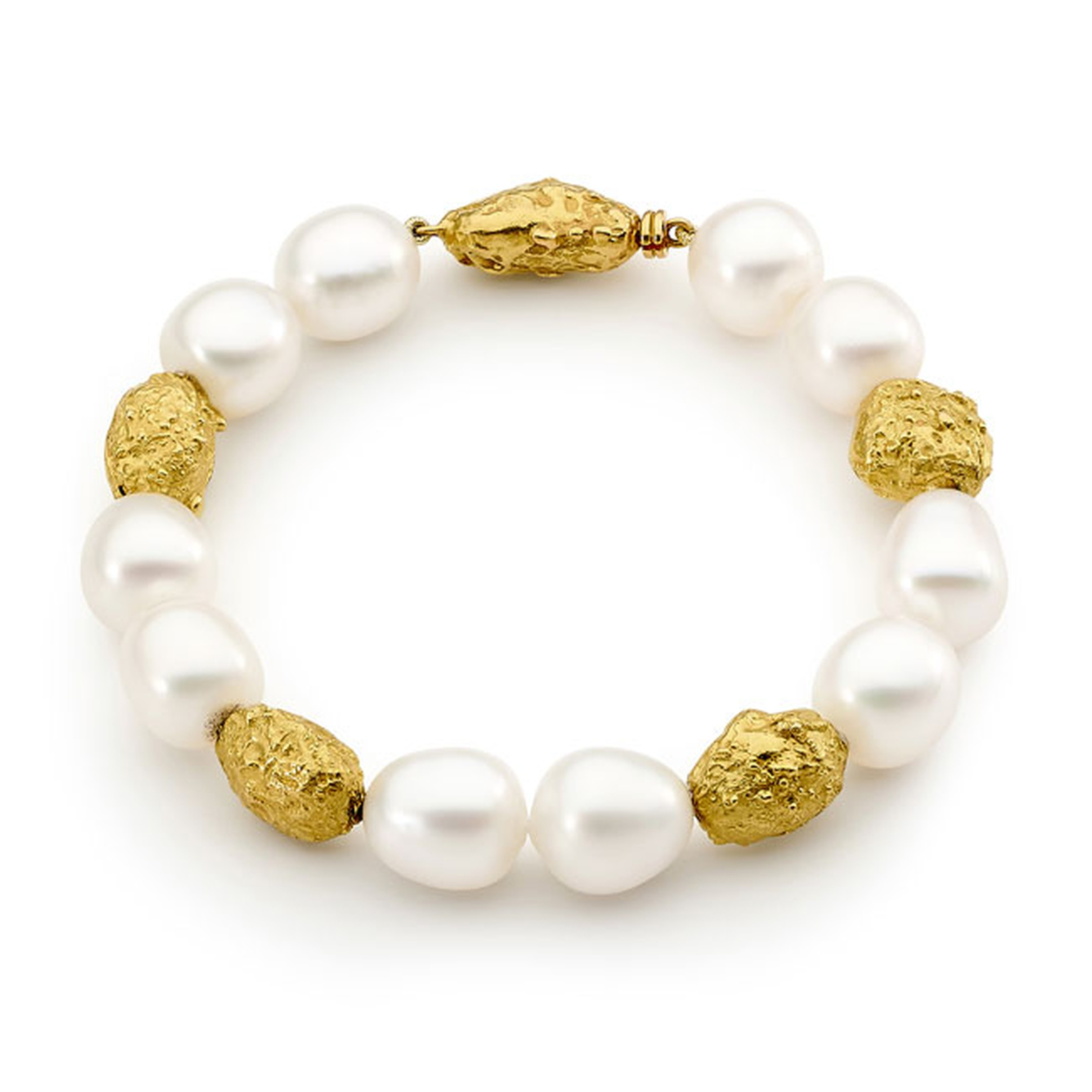 Linneys 18ct yellow gold Australian south sea pearl bracelet_main
