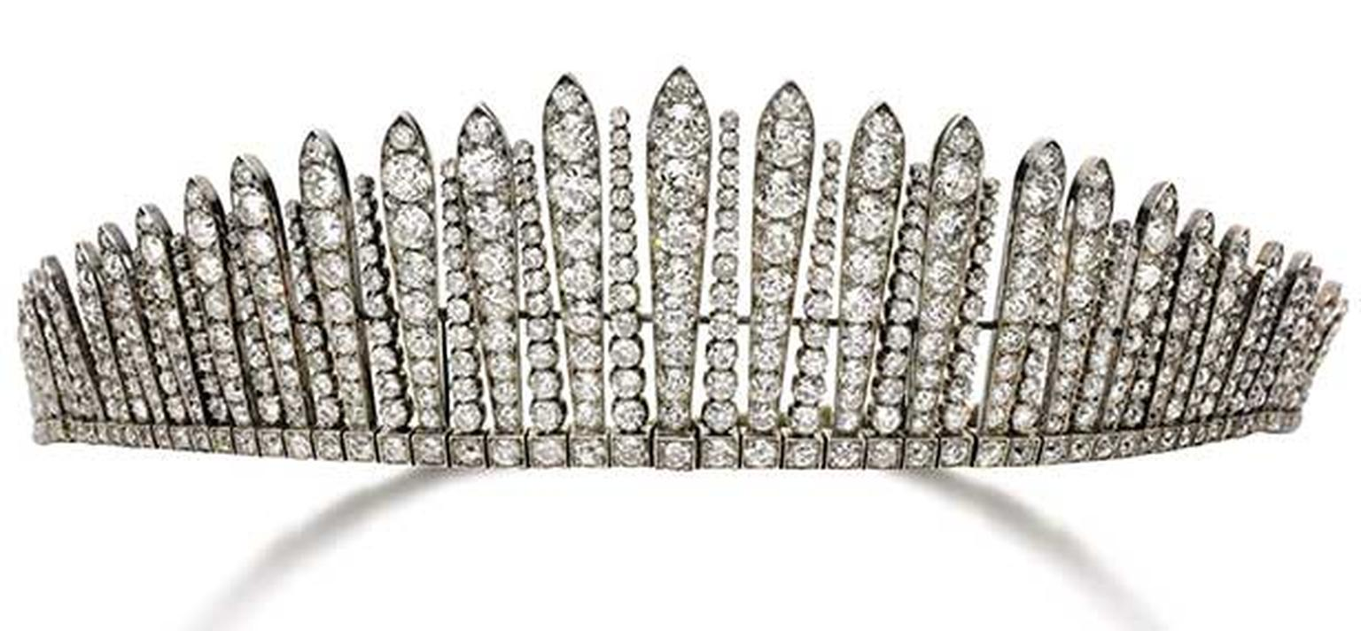 Vintage -Diamond -tiara -necklace -Sothebys