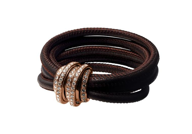 Another shade of the 'Allegra' bracelet, this time in rich brown.