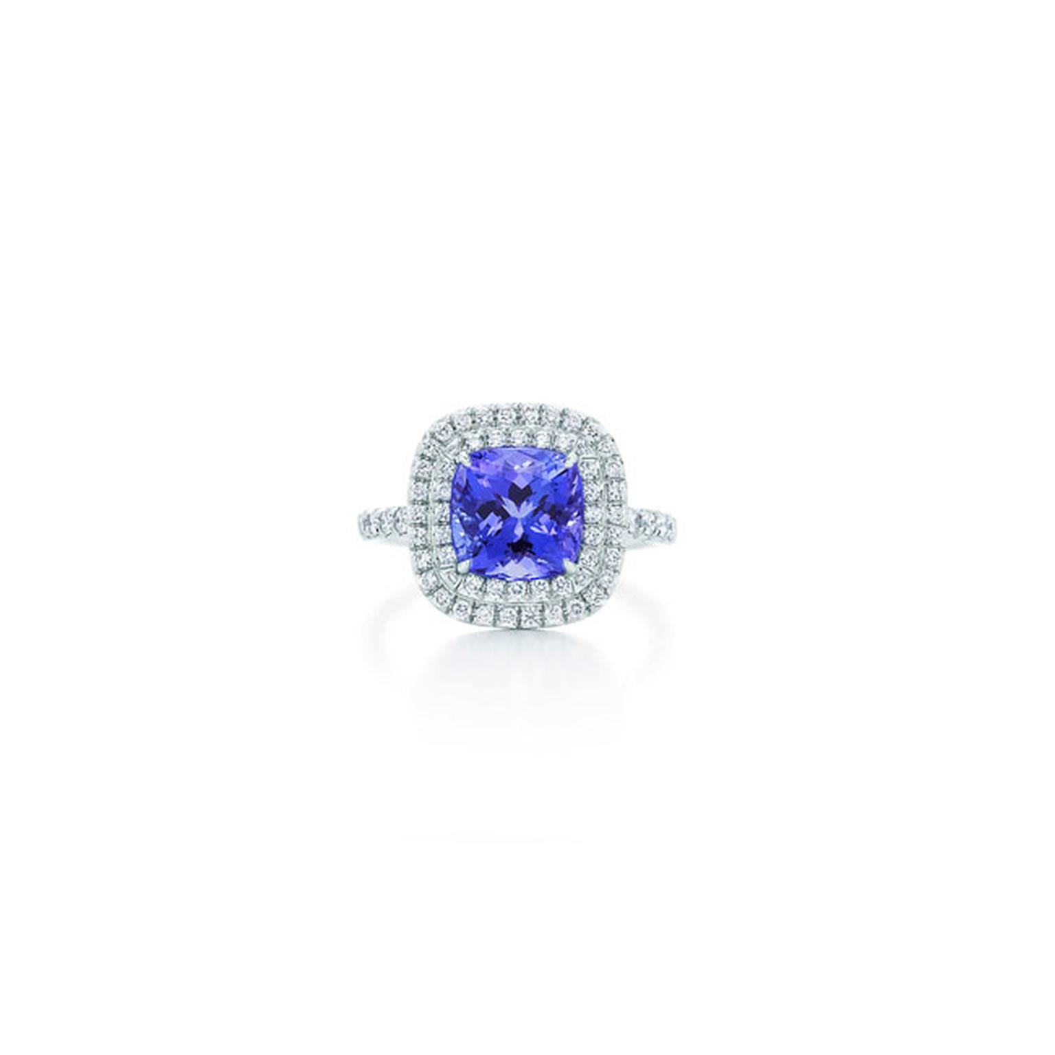 Tiffany Soleste tanzanite and diamond ring_main