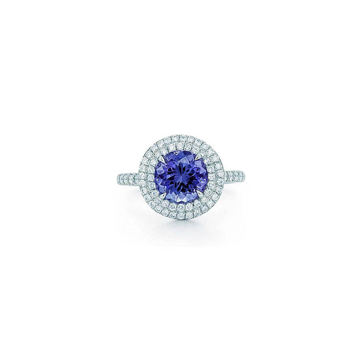 Tiffany Soleste round tanzanite and diamond ring_main