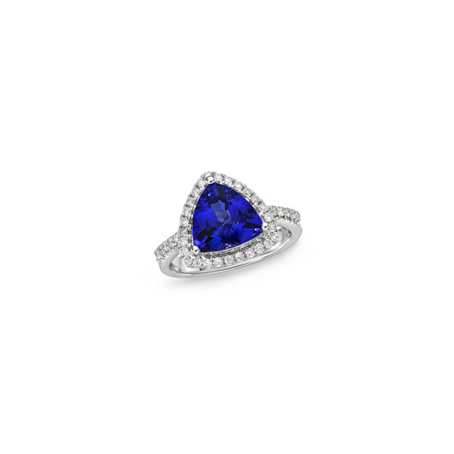 TanzaniteOne trillion tanzanite and diamond ring_main