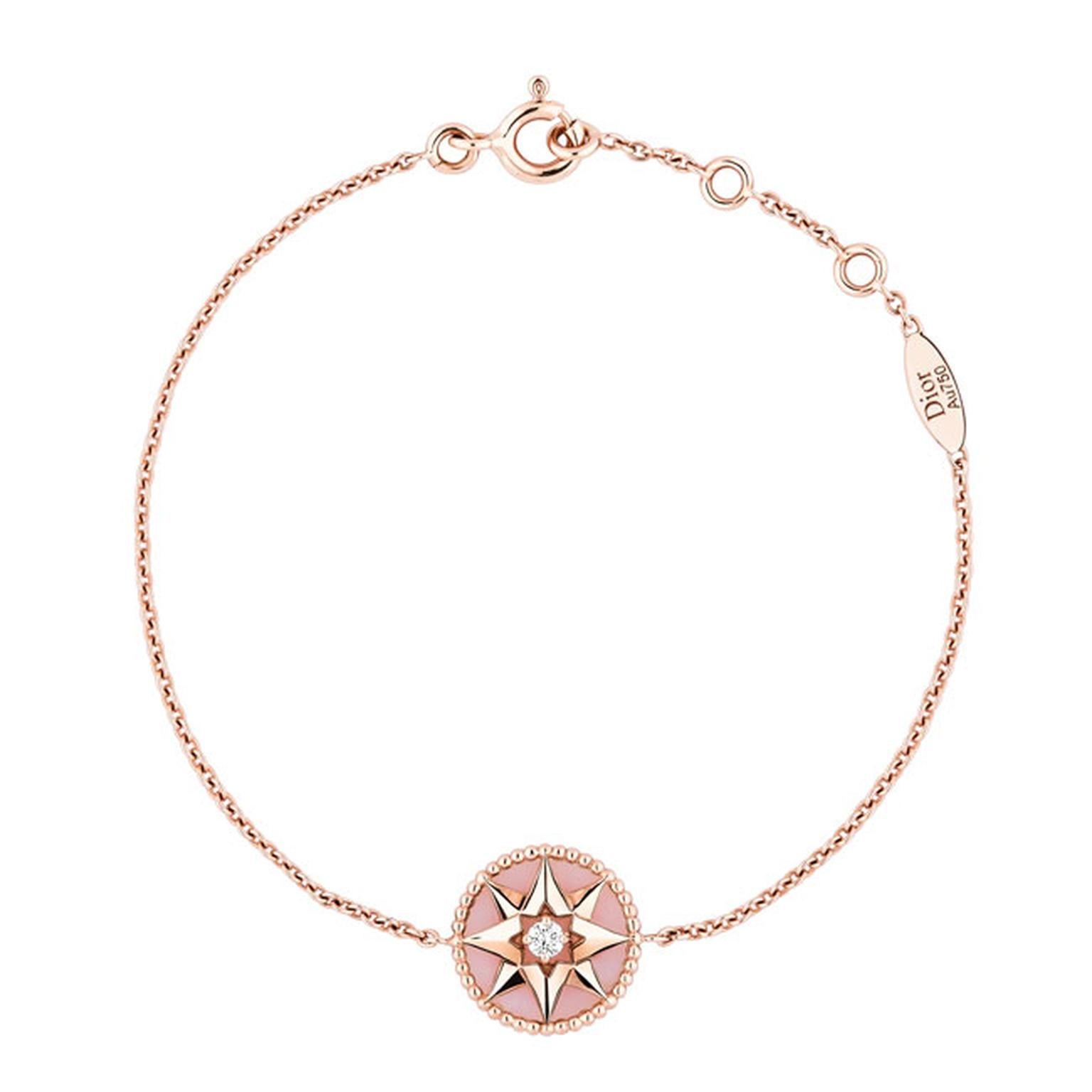 Dior Rose Des Vents pink gold pink opal and diamond bracelet_main