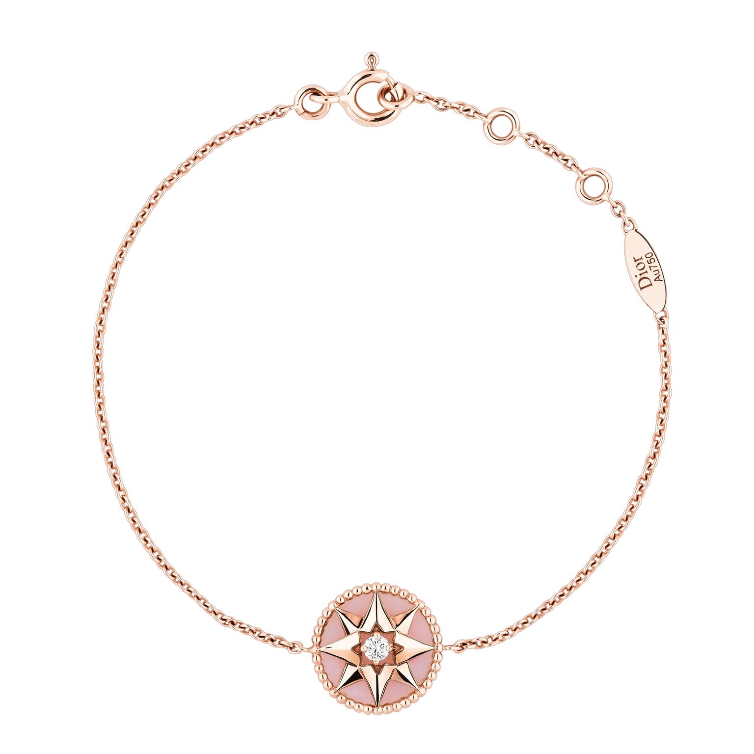 Dior Rose Des Vents pink gold pink opal and diamond bracelet_zoom